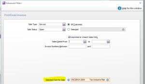 Default Sales Invoice Form