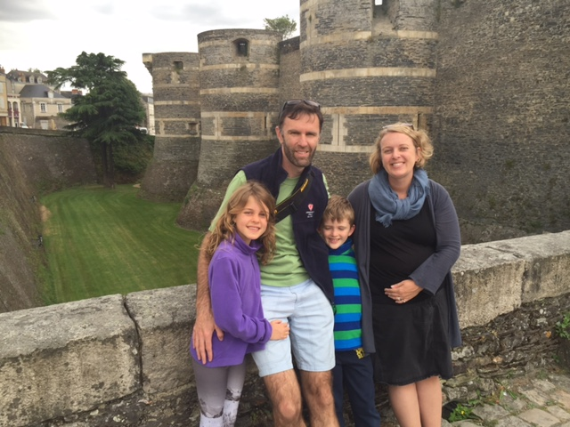 Family at Castle