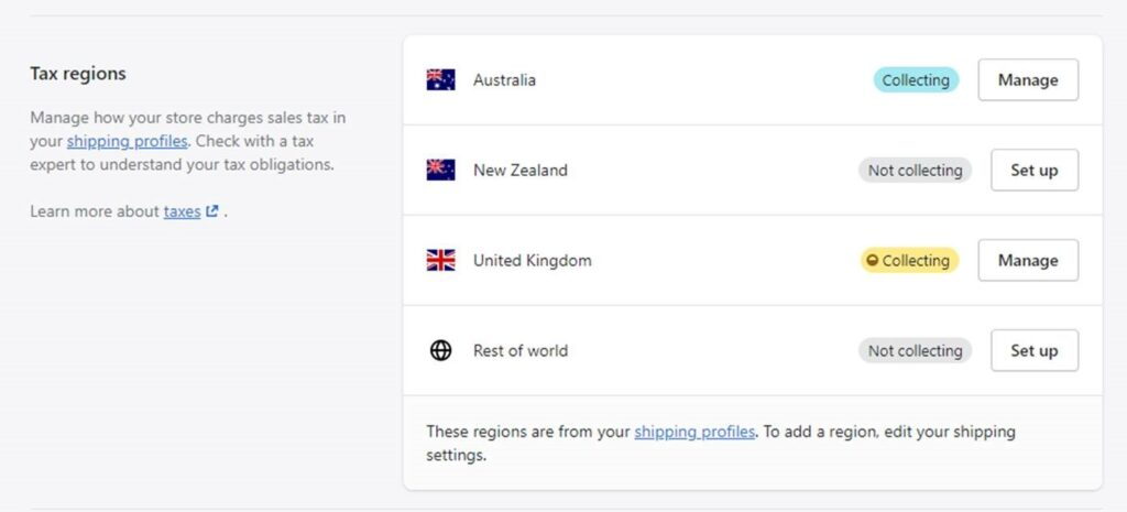 Shopify Tax Regions 1024x465 - Shopify - your eCommerce set up for UK VAT